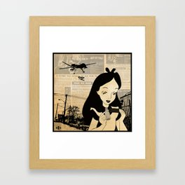 Off with their Heads. Framed Art Print
