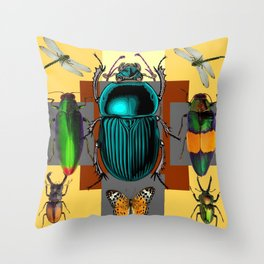 BUGGY INSECT LOVERS ART Throw Pillow