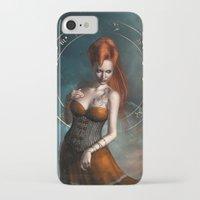 zodiac iPhone & iPod Cases featuring Zodiac Scorpio by Britta Glodde