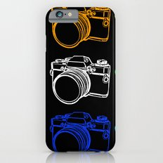 White on Black Camera Slim Case iPhone 6s