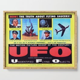 Vintage Film Poster- UFO Serving Tray