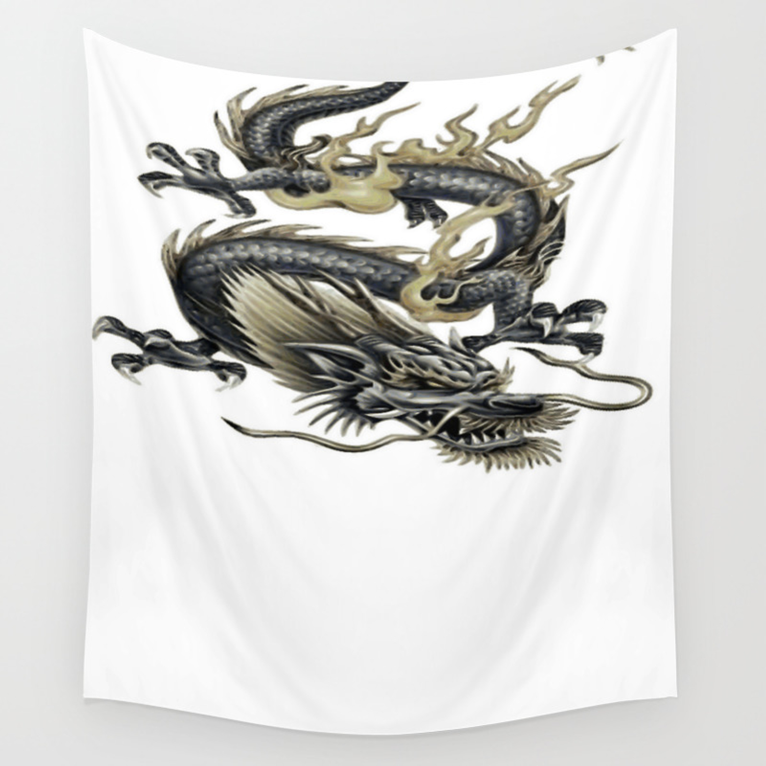 INK SKETCH CHINESE DRAGON ORIENTAL BOX CANVAS PRINT WALL ART PICTURE