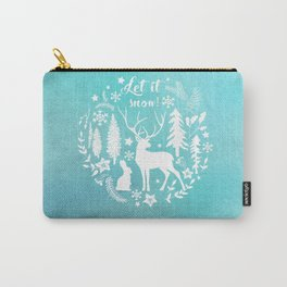 Let it snow! Christmas illustration Carry-All Pouch