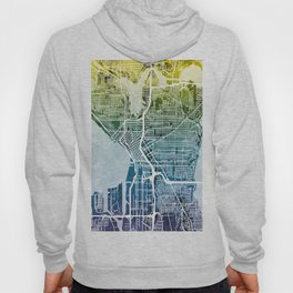 Seattle Washington Street Map Hoody