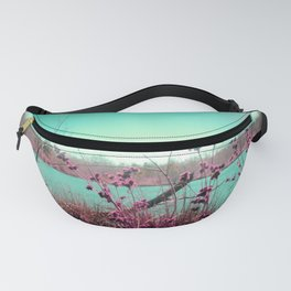 Teal Lake Hot Pink Flora Fanny Pack