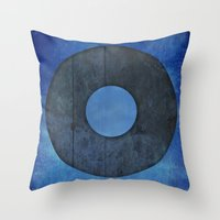 lord of the ring Throw Pillows featuring Ring by Steve Mac