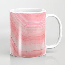 Coral Pink Agate Coffee Mug