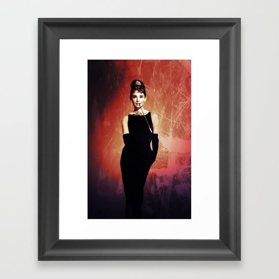 Audrey Hepburn vintage Framed Art Print