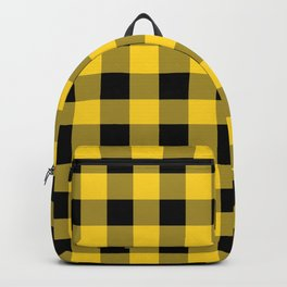 Yellow and Black Check Backpack