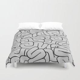 Guts or Brains - Grey Duvet Cover