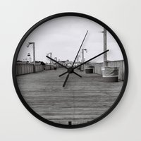 boardwalk empire Wall Clocks featuring Boardwalk by lennyfdzz