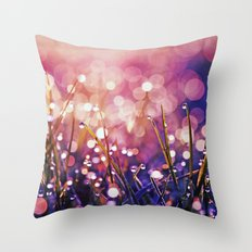 Fairy Drops Sunburst Throw Pillow