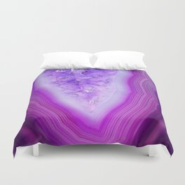 Magically Purple Agate Druzy Duvet Cover