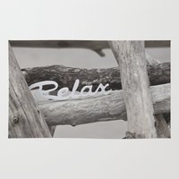 relax Area & Throw Rugs featuring Relax by LebensART Photography