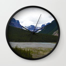 Stutfield Glacier along the Icefields Parkway  in Jasper National Park, Canada Wall Clock