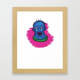 Blue Man Berry Framed Art Print