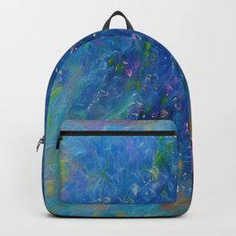 Blue Flowers Abstract by Lena Owens Backpack