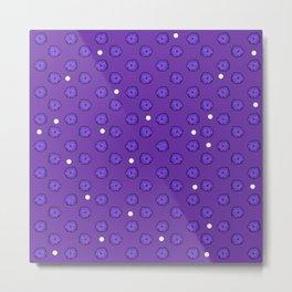 Purple flowers on purple Metal Print