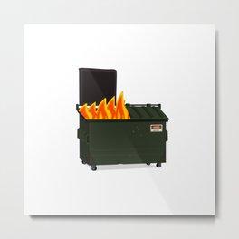 Dumpster Fire Metal Print