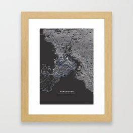 Vancouver city map Framed Art Print