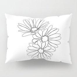 Daisies botanical illustration - Jo Pillow Sham