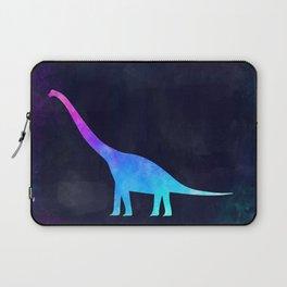 BRACHIOSAURUS IN SPACE // Animal Graphic Art // Watercolor Canvas Painting // Modern Minimal Cute Laptop Sleeve