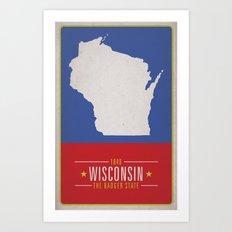 WISCONSIN Art Print