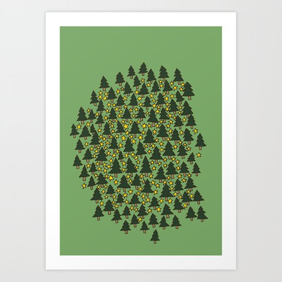 Minty Forest Art Print