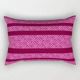 Marbled Pattern (burgundy-cerise red) Rectangular Pillow