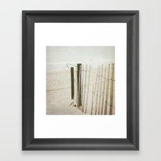 Ocean Fence Framed Art Print