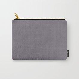 Plain Solid Minimal Monochrome Grayish Purple Plum Carry-All Pouch
