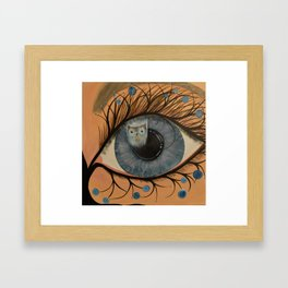 Original Acrylic Artwork By MiMi Stirn -  HooMasters Collection HooDali  #412 Framed Art Print