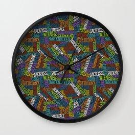 Curse Words Wall Clock