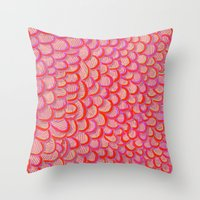 scales Throw Pillows featuring scales by Matthias Hennig
