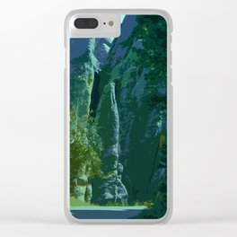 Enchanted Needles Highway Retro Travel Clear iPhone Case