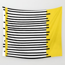 shapes and colors in yellow Wall Tapestry