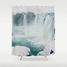 Goðafoss | Edge of the Arctic Shower Curtain