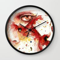 cardinal Wall Clocks featuring Cardinal  by Chelsea Brouillette