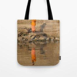 Reflection of a Saddhu Tote Bag