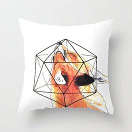 Geo Foxes Throw Pillow