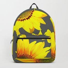 Large Sunflowers On Dark Grey Background #decor #society6 #buyart Backpack