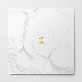 Forever Petal (Gold) Metal Print