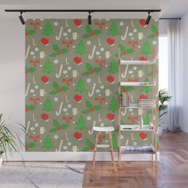 Happy New Year Merry Christmas winter holidays Wall Mural