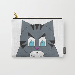 Angry Fat Tabby Cat Carry-All Pouch