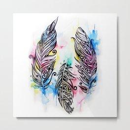 Koru Feathers  Metal Print