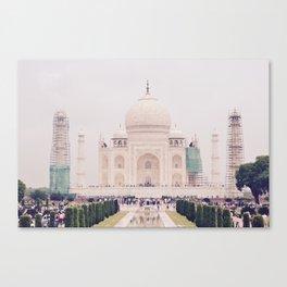 Beautiful man-made wonder Taj Mahal Canvas Print