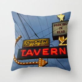 Chicken to go Throw Pillow