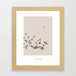 Bird and Birds Framed Art Print