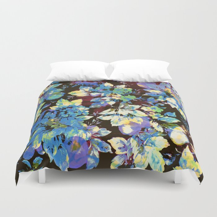 multicolored floral Duvet Cover