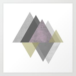 To the Mountains I Must Go, Abstract Geometric Art Art Print
